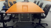 Custom Conference Table with Starburst Top