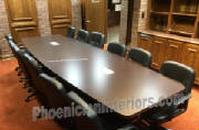 Utah Customer's Boat Shaped Conference Table with Grommets