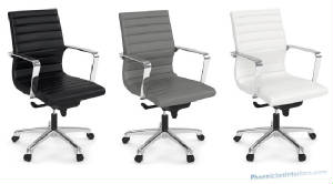 Modern-Conference-Chairs/ribbed_leather_mid_back_chair_black_gray_white.jpg