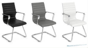 Modern-Conference-Chairs/ribbed_leather_side_chairs_black_gray_white.jpg